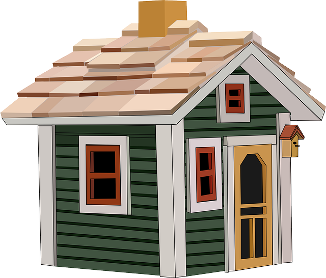 kreslený domeček